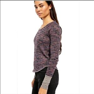 Free People Space Out Knit Shirt Thermal Marled